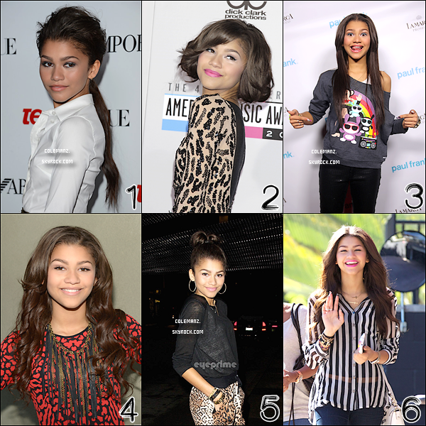 . Zendaya enchaine les coiffures , mais laquelle lui va le mieux ? Vote ! .