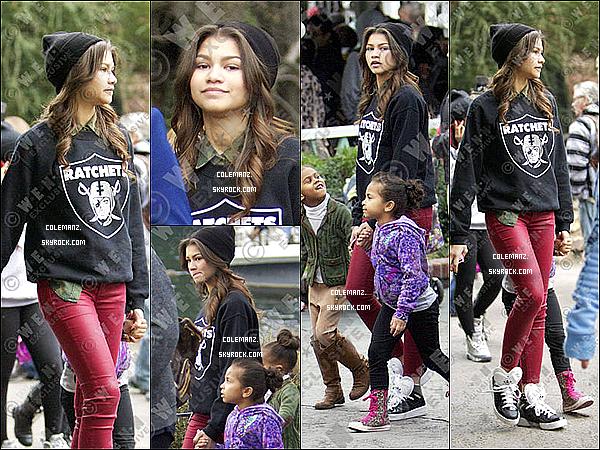 . 25 Décembre : Zendaya,des amis et ses nièces étaient a DisneyLand. .