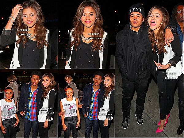 . 09/02/2013 : Zendaya a été aperçut au BOA Steak House en compagnie de sa famille et de ses amis a Hollywood. Top ou flop?  .