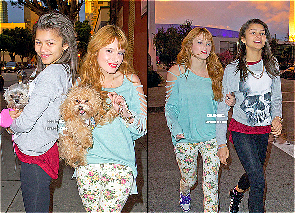 ". 08/03/2013 : Zendaya & Bella se rendant aux studios de ""Dancing With the Stars""  à Los Angeles. ."
