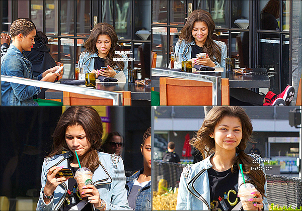 . 19/03/2013 : Zendaya et une amie se baladant dans les rues de Los Angeles,starbucks à la main. .