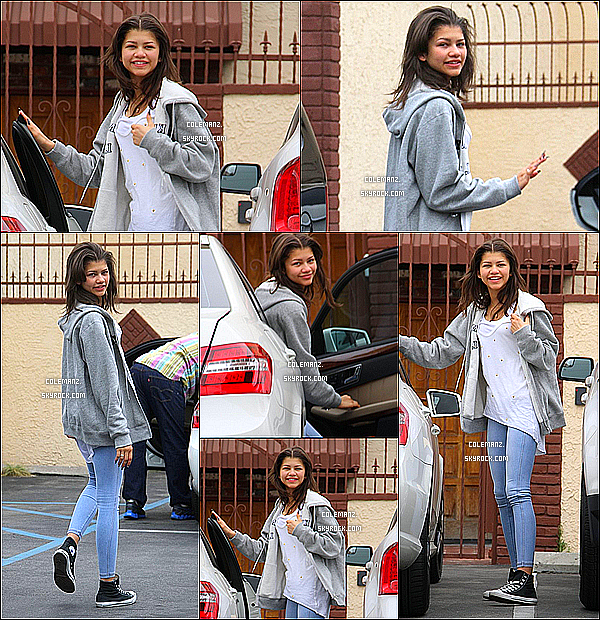 . 24/04/2013 : Zendaya allant aux répétitions de Dancing With The Stars. .