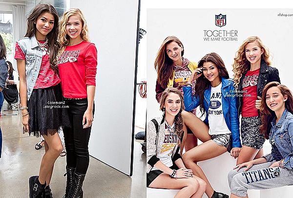 Nouvelles photos de Zendaya pour la marque NFL Tweens & Juniors Apparel.