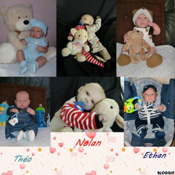 Nolan, Ethan et Théo