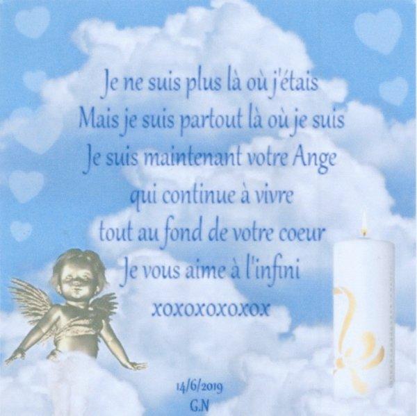 à notre ange