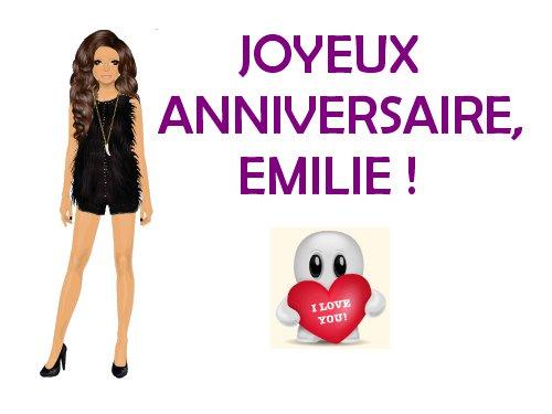Joyeux Anniversaire Emilie Astuces Stardoll