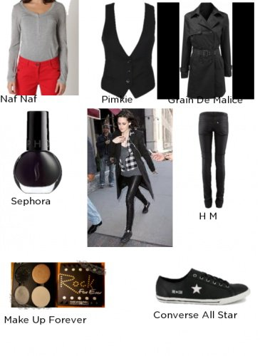 On copie le look rokc de Kristen Stewart !!!