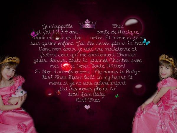 ♥ Bienvenu sur Princess-Girl-Thea ♥