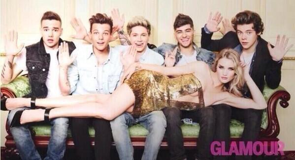 Les boys pour Glamour avec Rosie Huntington-Whiteley