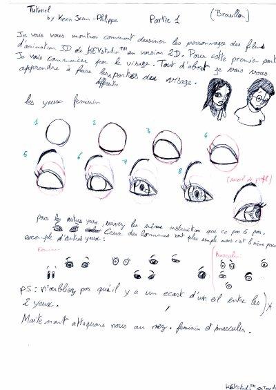brouillon tuto kevstudio dessin