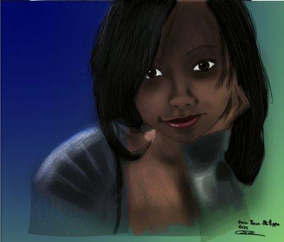 encore le portrait d'une amie à moi