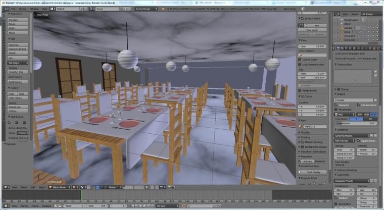 restaurant 3D