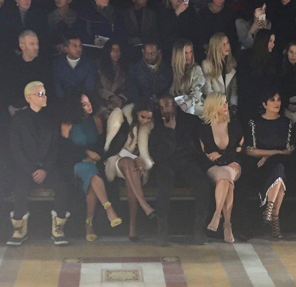 Kelly Rowland a la fashion week a Paris avec solange Knowles kanye west et kim Kardashian