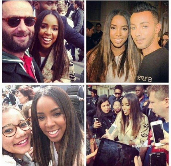 Kelly Rowland toujours a Paris pour la fashion week ! Et nouvelle coupe que moi j'adore!