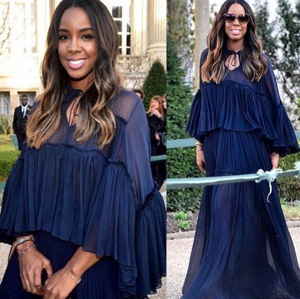 Kelly Rowland sublime a la fashion week a paris...