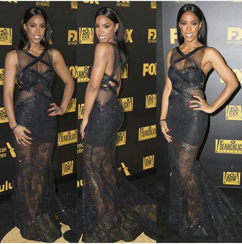 Kelly Rowland habiller en charlezoecouture en after party des golden globe