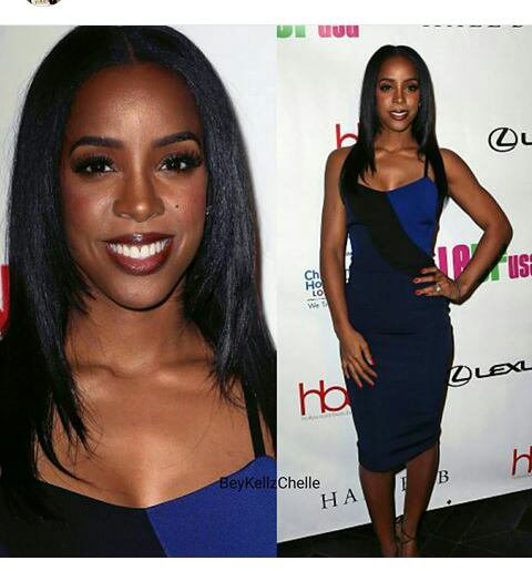 #kelly rowland hollywood en Victoria Beckham dress
