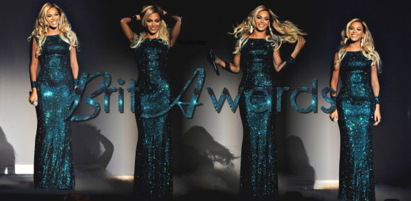 @Queen B Performs 'XO' at Brit Awards 2014 ♥
