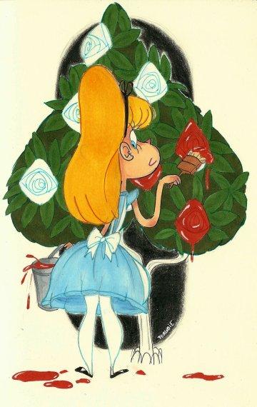 Peignons les roses en rouge!