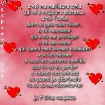 Pour Ma Steph Ma Soeur Damour Poème Et Tof De Moi