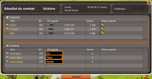 Merci, week-end double xp =)
