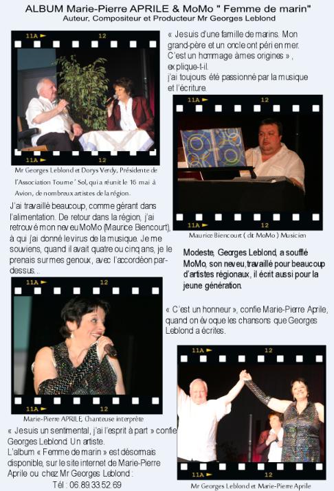 Marie-Pierre Aprile, MoMo et Georges Leblond !