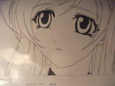 déssin rosario + vampire: Moka Akashiya et Mizore Shirayuki