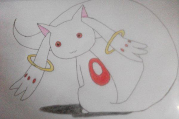 Dessin Kyubey de Madoka Magica