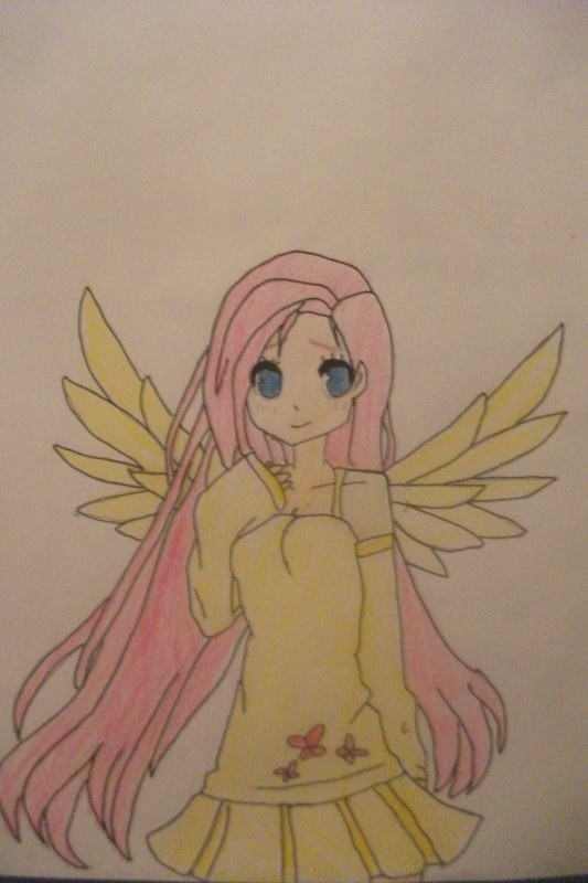 Dessin: Fluttershy Humaine