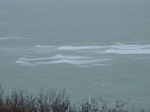 les Vagues agité au Havre par une tempête le jeudi 27 Décembre 2012