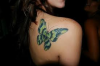 Butterfly on the shoulder of a girl..♥