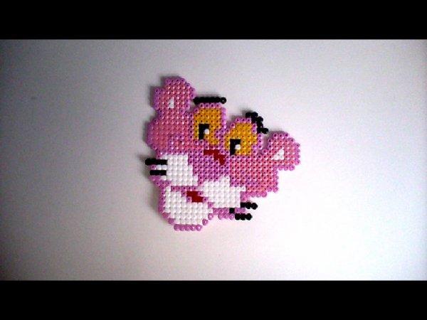 panthère rose en perle hama