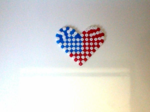 coeur americain perle hama