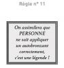 Règles N°11