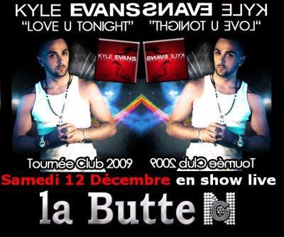 Kyle en show le 12 Décembre à la Butte de Laval