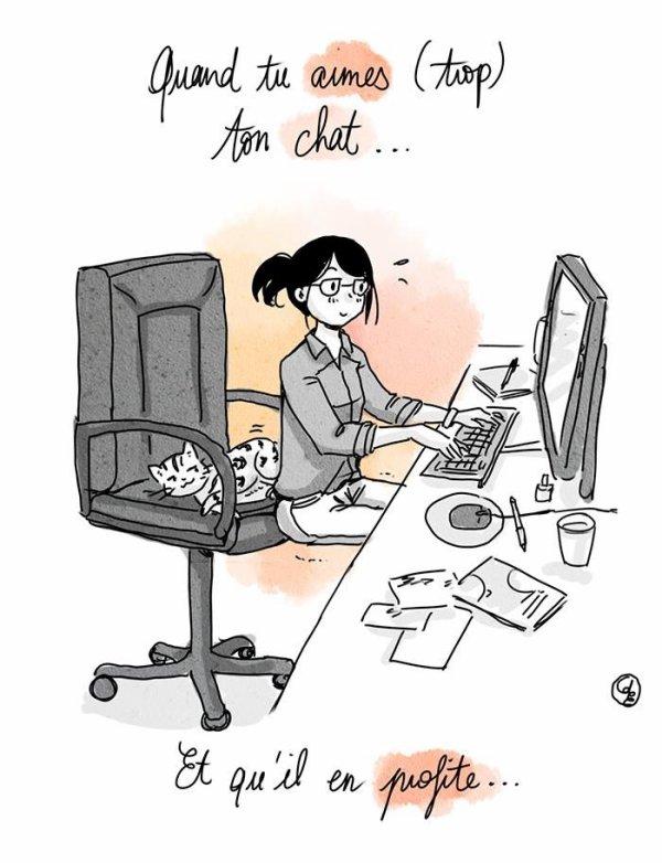 C'est tout moi, sauf , que je laisse la chaise pour ne pas déranger et prends un tabouret.