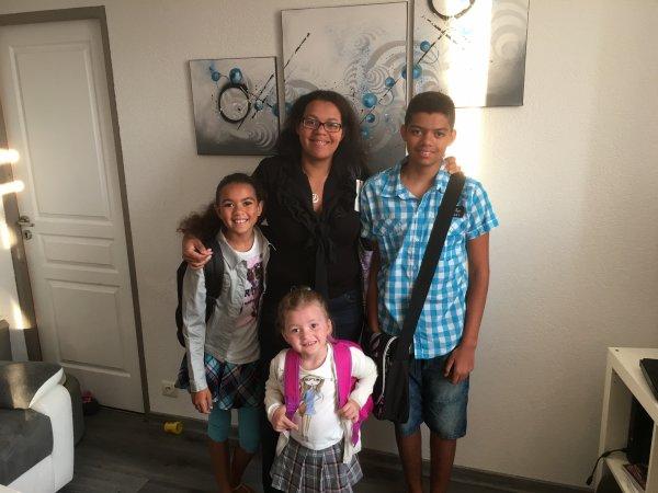 Ma fille aînée et ses trois enfants