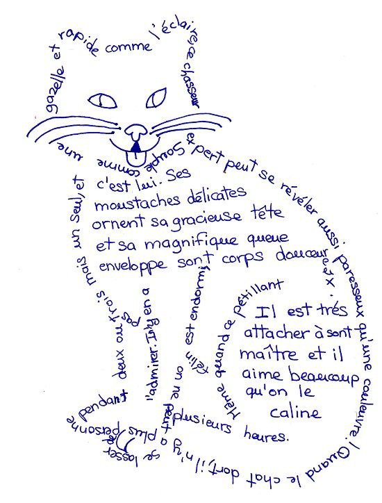 Petits Poèmes calligraphiques Félins