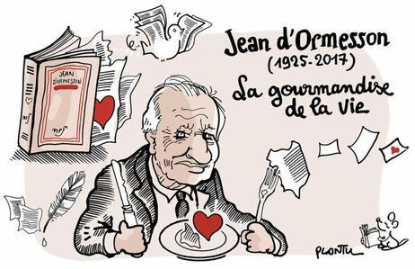 """Et vous """"Monsieur"""" vous resterez dans la mémoire des Hommes....hommage pour Jean d'Ormesson """"philosophe de mon coeur"""""""