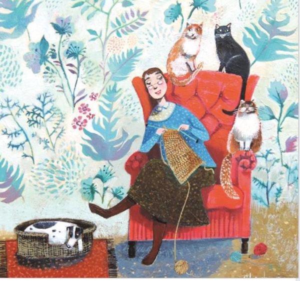 Quand je tricote, je suis toujours bien entourée et je me sens moins seule