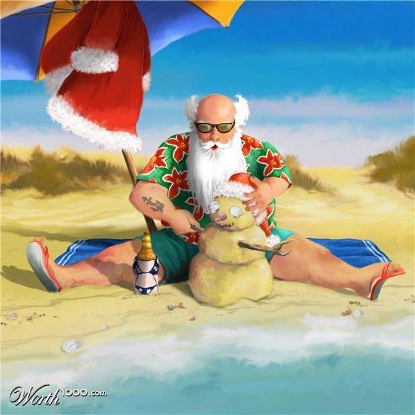 Après une enquête menée tambour battant, on a retrouvé le Père Noël et je peux vous dire qu'il prend du bon temps et il a bien raison...