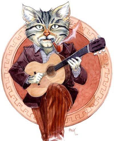 Un Grand Artiste, qui aimait les chats bien plus que les femmes? Dit on....