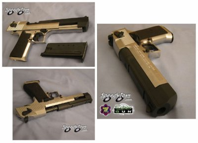 ( debut )  SERIE SURVIE   (pistolet semi-auto ou full )    :   Desert Eagle Gold