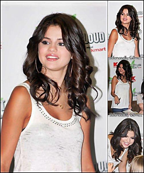 Selena se trouvait à Philadelphie pour faire la promotion de la nouvelle collection de « Dream Out Loud » dans un magasin K-Mart. .