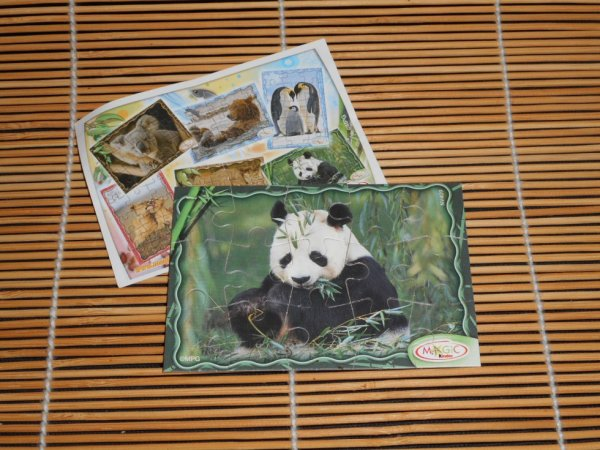 Panda puzzle 12 pièces collection Kinder 7