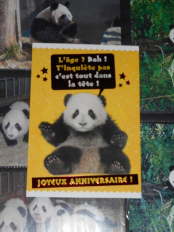Panda Carte postale acheter le 27 07 2017