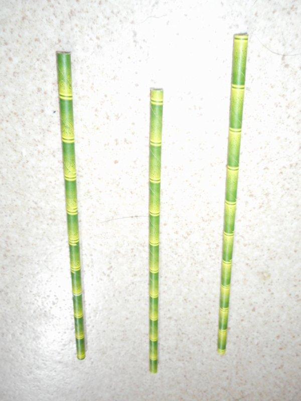 Panda paille Bambou