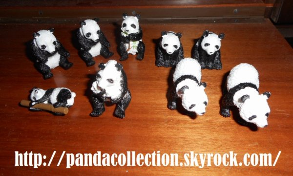 Panda 9 Figurines 3