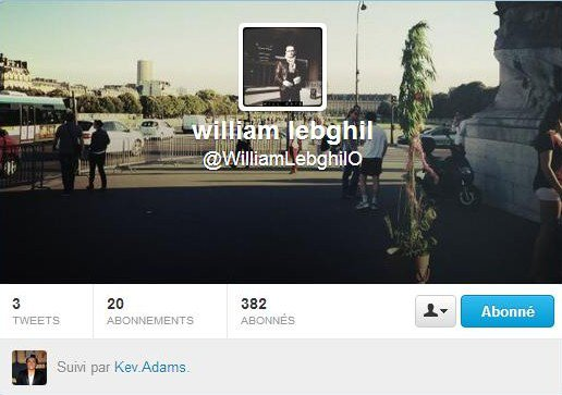 William Lebghil à rejoint twitter !