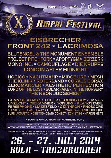 Amphi Festival - Nouveau trailer de programme met en lumière 2014